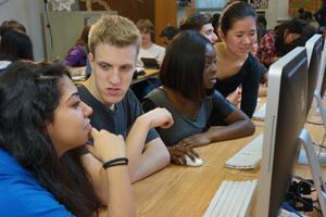 Cyber Film School Students edit own iMacs