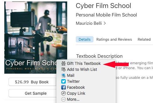 Gift Cyber Film School iBook Step 4.