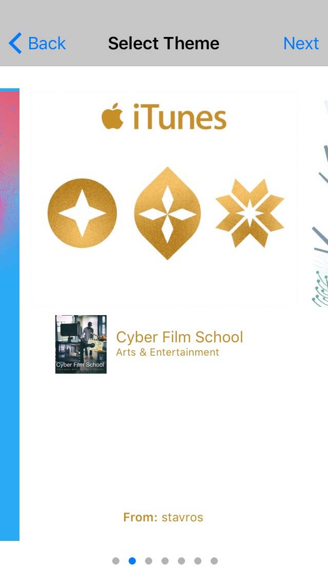 Gifts Cyber Film School Step 4. select a theme