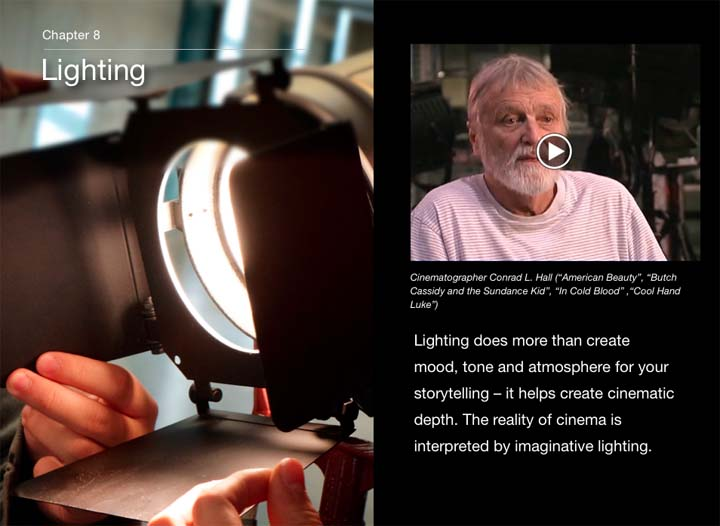 iBook Lighting Chapter Cover featuring Conrad Hall