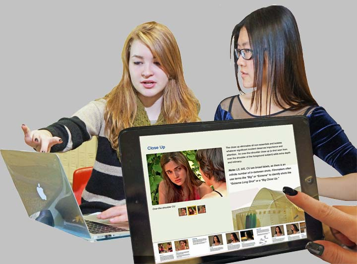 Two film students learn filmmaking with iPad & Mac.