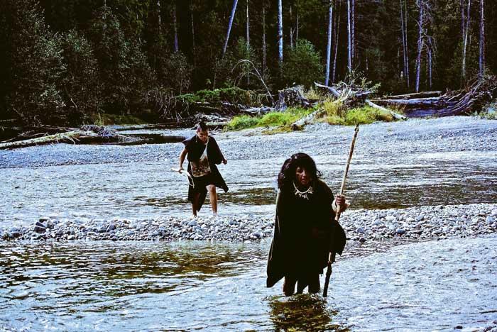 Actors cross river in student film
