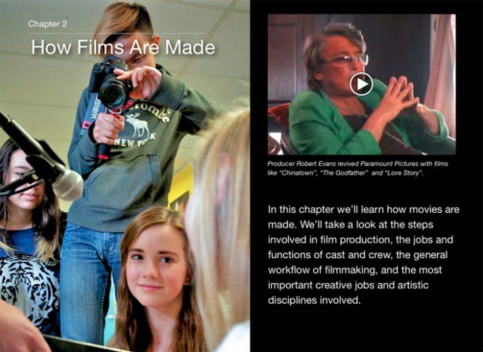 Cyber Film School iBook How Films Are Made intro With Robert Evans