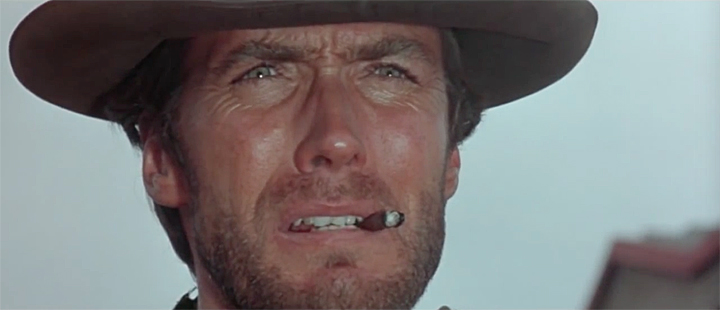Extreme CU Clint Eastwood Fistful of Dollars